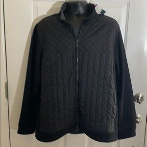 Perry Ellis Quilted Front Full Zip Jacket